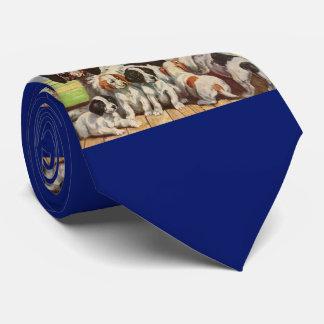 Corbata Personalizada Mamá del perro de aguas de saltador e impresión de