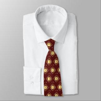 Corbata Personalizada Marrón y oro encajonados - en lazo