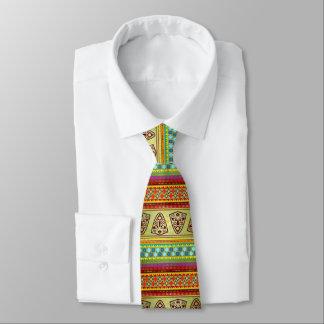 Corbata Personalizada Modelo africano colorido de Kente de la raya de