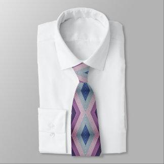 Corbata Personalizada Modelo geométrico intrépido en de color de malva y