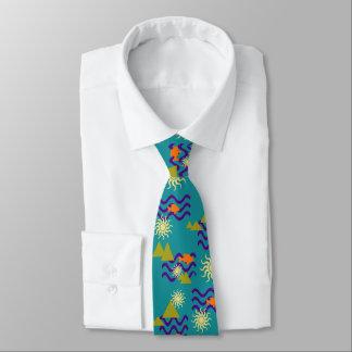 Corbata Personalizada Modelo moderno de los símbolos de la tierra de la