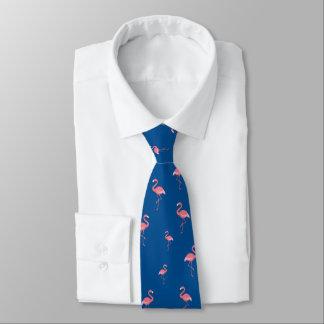 Corbata Personalizada modelo rosado de los flamencos en los lapis azules
