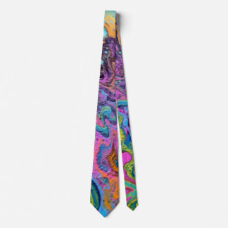 Corbata Personalizada Negro del teñido anudado 2, rosa, azul, naranja