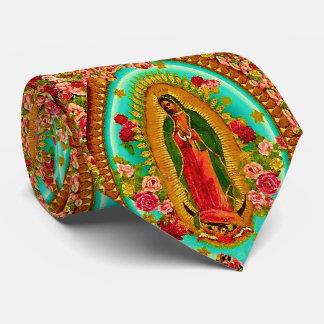 Corbata Personalizada Nuestro Virgen María mexicano del santo de señora
