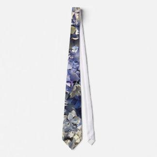 Corbata Personalizada Pétalos azules del Hydrangea de la lavanda