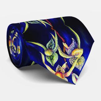 Corbata Personalizada Pintura de las orquídeas azules