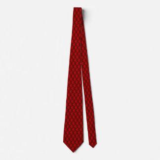 Corbata Personalizada Pliegues rojos del Pin de la tapicería del granate