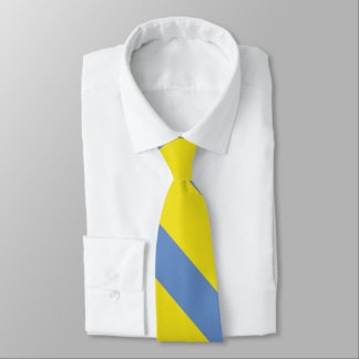 Corbata Personalizada Raya de la universidad del amarillo y del azul de
