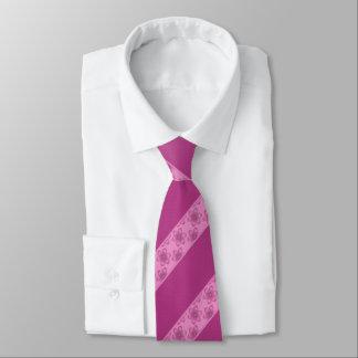 Corbata Personalizada Raya floral rosada del vino