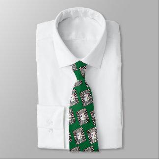 Corbata Personalizada Reina afortunada del ~ de la tarjeta de espadas