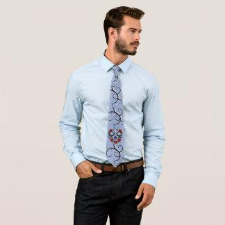 Corbata Personalizada Rosas para hombre del cráneo del lazo