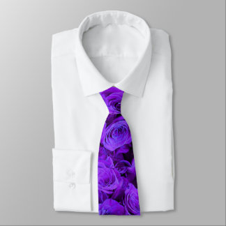 Corbata Personalizada Rosas púrpuras
