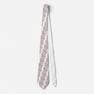 Corbata Personalizada rosas y pintura de la peladura