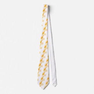 Corbata Personalizada señora loca de la jirafa
