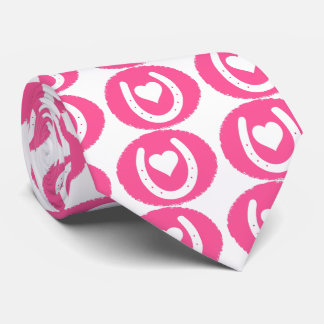 Corbata Personalizada Zapato y corazón rosados del caballo