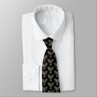 Corbata Phoenix que sube en sepia en negro