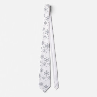 Corbata plateada del boda del invierno de los copo