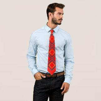 Corbata PODER rojo del negro y del oro