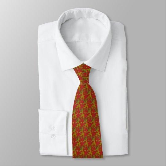 Corbata rampante sobre gules
