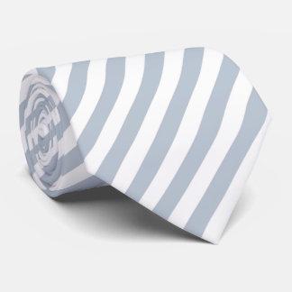 Corbata Rayas grises y blancas azul claro