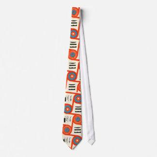 Corbata retra de los años 50 del diseño creativo