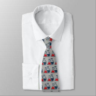 Corbata roja del diseño de la química de los