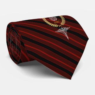 Corbata Rojo del monograma del profesional de salud mental