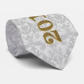 Corbata Rojo y de plata con la clase del damasco de 2017