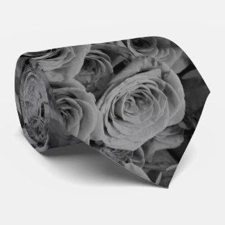 Corbata Rosas grises