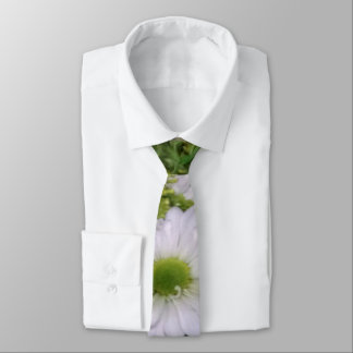Corbata rústica blanca de la margarita del boda