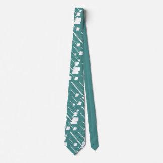 Corbata Silueta blanca de la grúa de correa eslabonada del