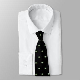Corbata Srta. el lazo de la corona de los hombres verdes y
