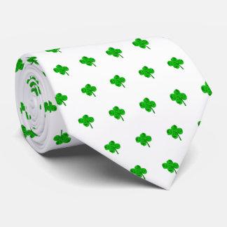 Corbata Suerte del lazo del trébol del día del St Patrick