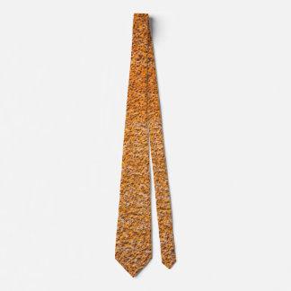 Corbata Superficie plateada de metal aherrumbrada