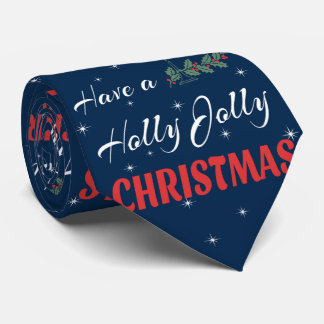 Corbata Tenga navidad alegre de un acebo