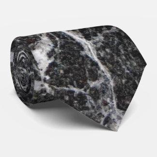 Corbata Textura de mármol blanco y negro