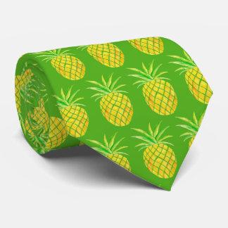 Corbata tropical de la acuarela de la piña