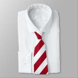 Corbata Una raya apenas roja y blanca