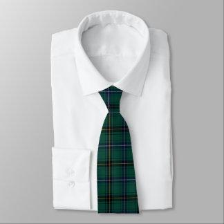 Corbata verde azulada de la tela escocesa de