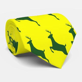 Corbata verde de los ciervos