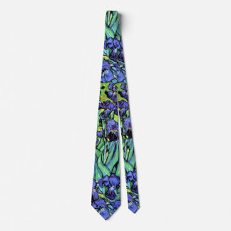 Corbata Vincent van Gogh - iris - bella arte del amante de