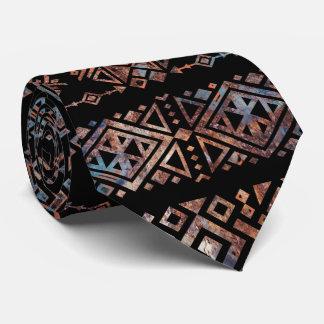 Corbata Vintage Pat tribal peruano azteca del bronce y del