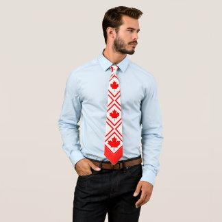 Corbatas Arce canadiense en rojo y blanco