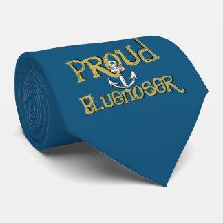 Corbatas Azul orgulloso del lazo del ancla de Bluenoser