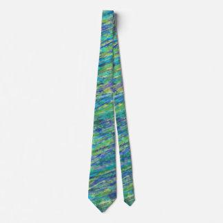 Corbatas Azul y salpicadura alineada verde