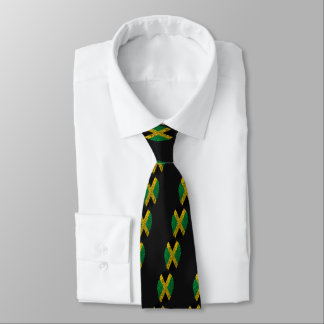Corbatas Bandera jamaicana de la huella dactilar del tacto