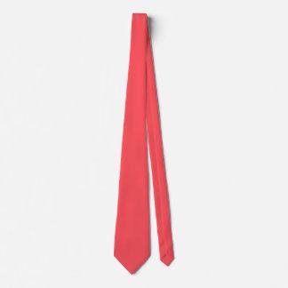Corbatas Color coralino adornado esculpido