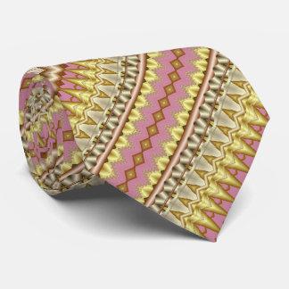 Corbatas Color de malva, oro y modelo diagonal de color