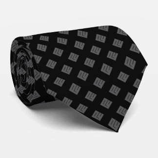 Corbatas Diamante gris en negro
