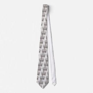Corbatas Diseño real con la corona en estilo del vintage